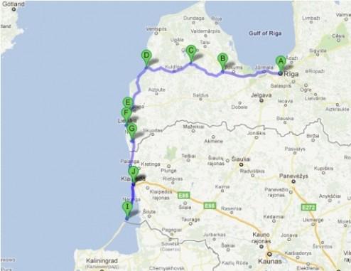 Itinéraire à partir de Google Maps