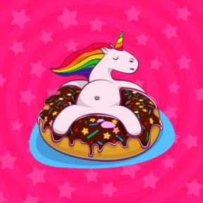 Licorne et donut