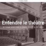 Podcast Entendre le théâtre: l'art dramatique … une affaire de voix