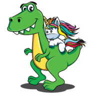 Licorne et dinosaure