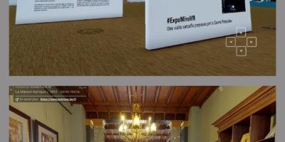 Montage pour présenter les expos virtuelles Miro et Maison Autrique