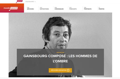 exposition Gainsbourg musée sacem