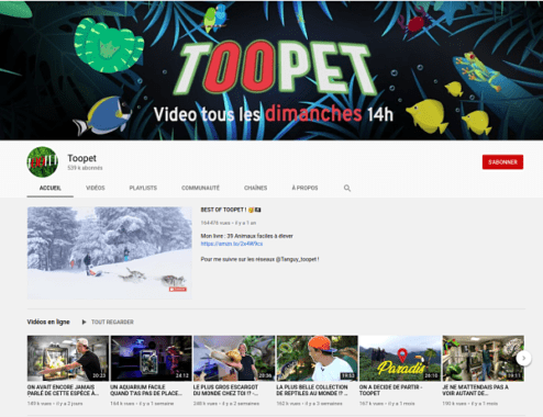 chaine youtube toopet
