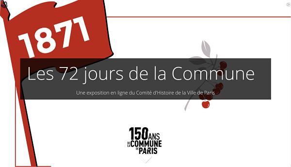 exposition virtuelle sur les 72 jours de la Commune de Paris
