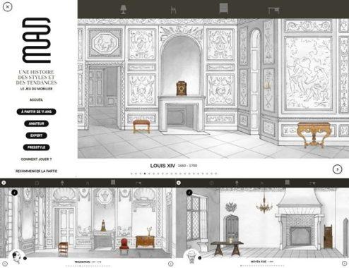 extrait du jeu du mobilier proposé par le musée des arts décoratifs