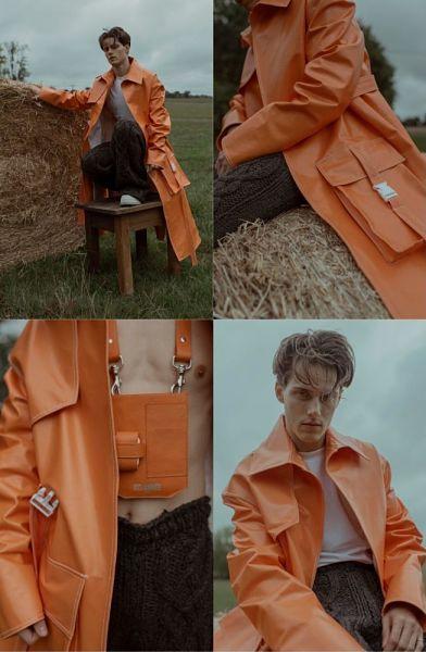 trench orange delannée paris