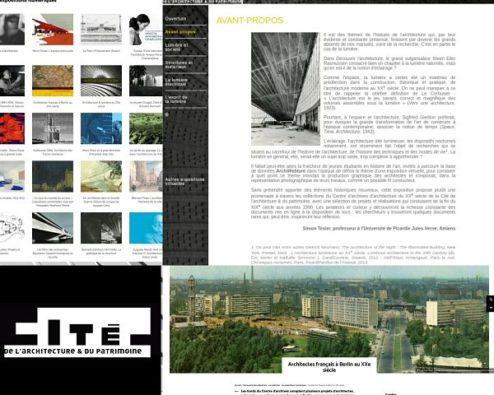 expositions virtuelles de la cité de l'architecture
