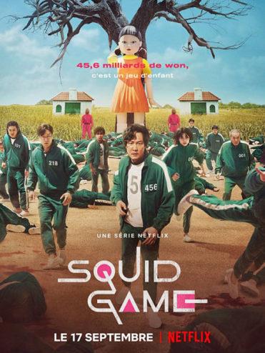 affiche de la série Squid game