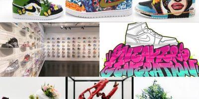 photographies de l'exposition Sneakers Generation à la Galerie Sakura