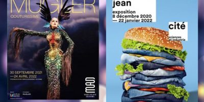 affiches des expositions Thierry Mugler et Jean