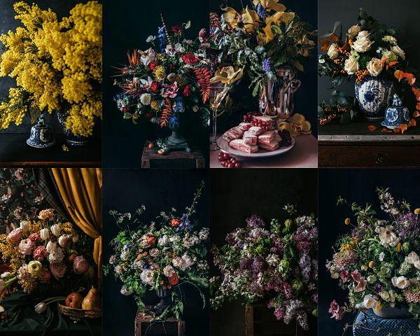 photographies de bouquets par The Pineapple Chef